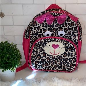 The Children's Place Accessories - THE CHILDRENS PLACE NWOT LEOPARD CAT ZIP BACKPACK